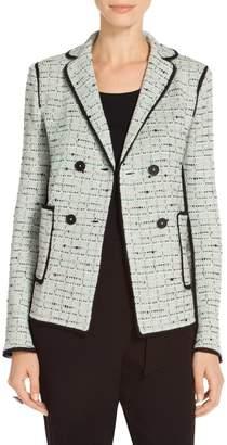 St. John Adriana Multi Tweed Double Breasted Jacket
