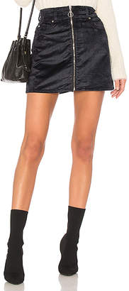 7 For All Mankind Zip Front Mini Skirt