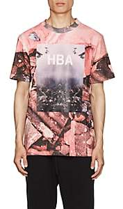 Hood by Air MEN'S OVERCOME-PRINT COTTON T-SHIRT - PINK SIZE L
