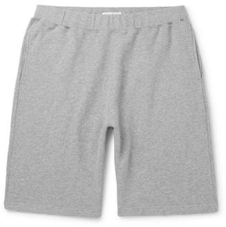 Sunspel Brushed Loopback Cotton-Jersey Shorts - Gray