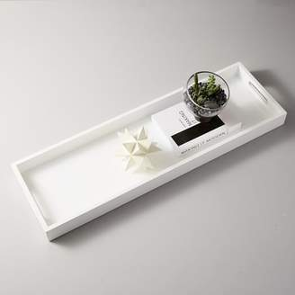 west elm Lacquer Wood Tray - White