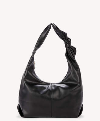 Sole Society Women's Niki Vegan Hobo Bag With Bow Detail Black Vegan Leather From