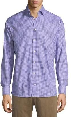 Eton Cotton Check Dress Shirt