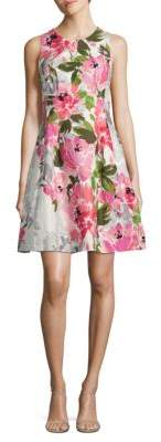 Vince Camuto Floral Fit and Flare Dress $128 thestylecure.com