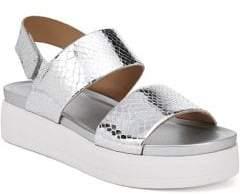 Franco Sarto Kenan Metallic Embossed Platform Sandals