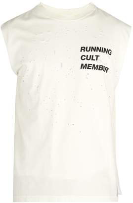 Satisfy Cult distressed cotton T-shirt
