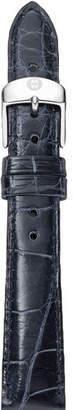 Michele 16mm Alligator Strap, Navy