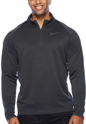 Nike Mens Mock Neck Long Sleeve Quarter-Zip Pullover Big and Tall