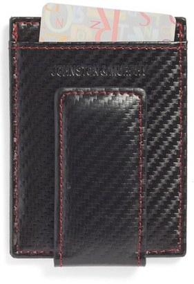 Men's Johnston & Murphy Money Clip Card Case - Black $48 thestylecure.com