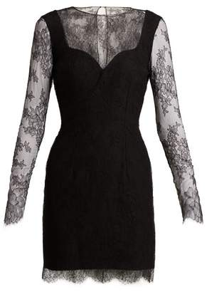 Emilio De La Morena Grace Lace And Silk Blend Mini Dress - Womens - Black