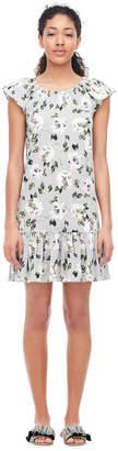 Rebecca Taylor Magnolia Floral Jersey Dress
