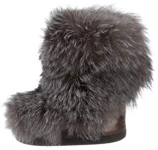 Brunello Cucinelli Monili-Trimmed Fur Snow Boots