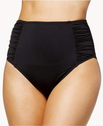 Bar III Solid High-Waist Bikini Bottoms
