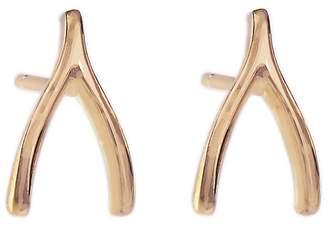 Jennifer Meyer Wishbone Stud Earrings - Rose Gold