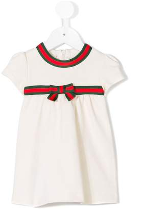 Gucci Kids Web trim empire dress