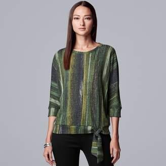 Vera Wang Women's Simply Vera Dolman Sleeve Cozy Top Ribbed