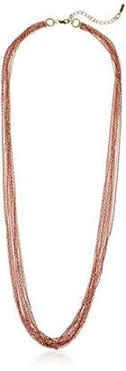 Kenneth Cole New York Women's Long Multi Row Chain Strand Necklace
