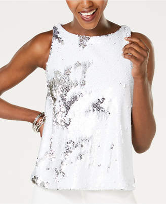 INC International Concepts I.n.c. Sequin Shell Top