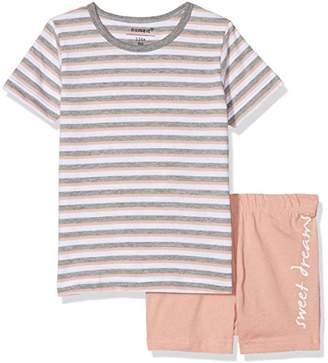 Name It Baby Girls' Nmfnightset Rose Tan Ss Shorts Pyjama Set