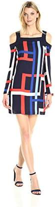 Jax Women's Colder Shoulder Exclusive Stripe Shift