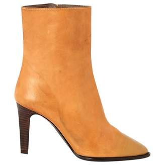 Jil Sander Camel Leather Ankle boots