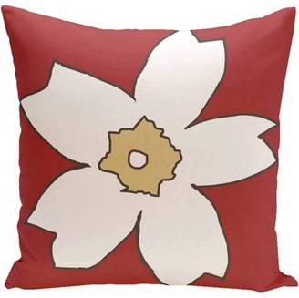 """Generic Simply Daisy Floral Print Decorative Pillow, 16"""" x 16"""""""