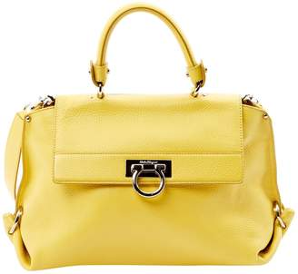 Salvatore Ferragamo Yellow Leather Handbag