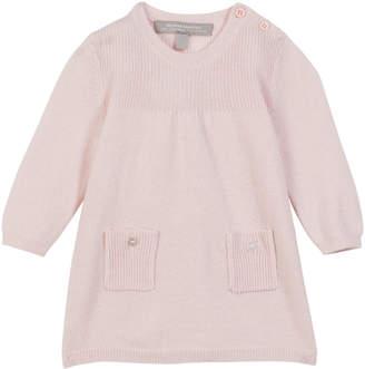 Sofia Cashmere Rib Knit Jersey Long-Sleeve Dress, Size 3-18 Months