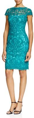Tadashi Shoji Cap Sleeve Corded Tulle Dress $408 thestylecure.com