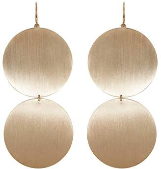 Irene Neuwirth Two Circle Drop Earrings - Rose Gold