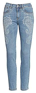 Roberto Cavalli Women's Embellished Paisley Skinny Jeans