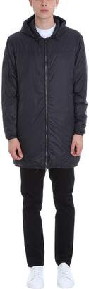 Mauro Grifoni Long Black Nylon Padded Jacket