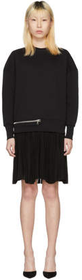 Alexander McQueen Black Zip Sweasthirt Dress