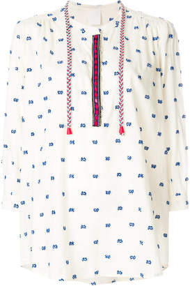 Pinko embroidered tunic top