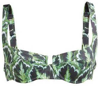 Reina Olga Brigitte Jungle Print Underwired Bikini Top - Womens - Green Multi