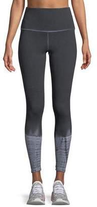 Onzie High-Waist Tie-Dye Midi Leggings