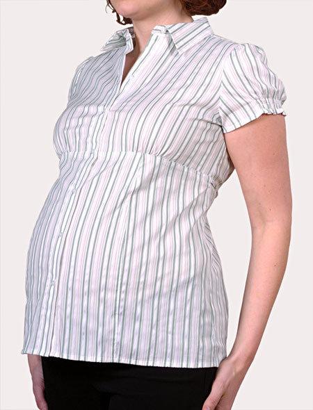 Short Sleeve Smock Sleeve Maternity Shirt