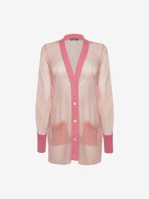 Alexander McQueen Sheer Cable Knit Cardigan
