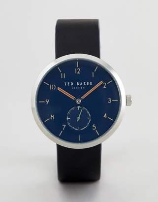 Ted Baker TE50011007 Josh Leather Watch In Black 42mm