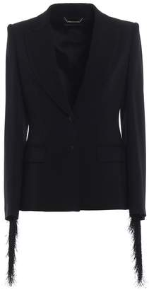 Alberta Ferretti Rear Fringed-detailed Blazer