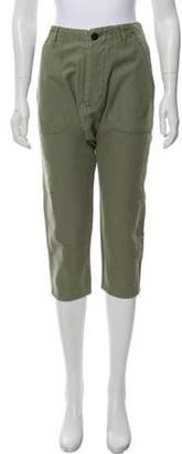 Etienne Marcel Poplin High-Rise Pants w/ Tags Green Poplin High-Rise Pants w/ Tags