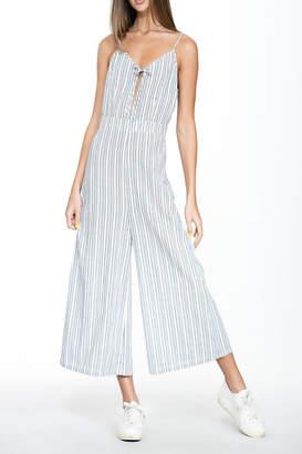 En Creme Blue Stripe Jumpsuit