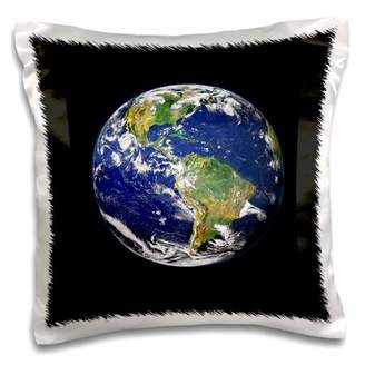 Planet Earth 3dRose Print of From Space - Pillow Case, 16 by 16-inch