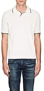 Barneys New York Men's Contrast-Tipped Cotton Polo Shirt - White