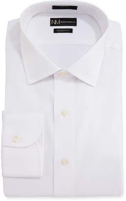 Neiman Marcus Men's Modern Fit Corded Basic Dress Shirt