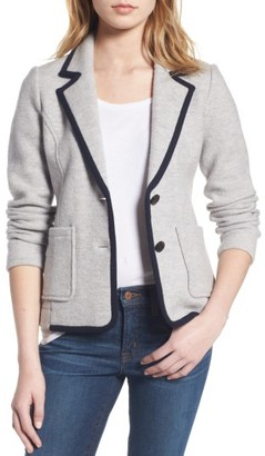 Women's J.crew Tipped Merino Wool Sweater Blazer $225 thestylecure.com