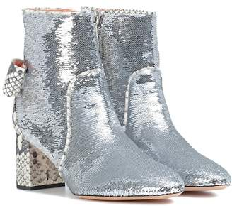 Rochas Sequinned ankle boots