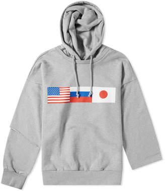 Gosha Rubchinskiy Double Sleeve Flag Hoody