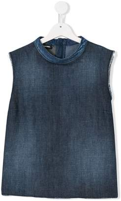 Diesel zipped denim tank top