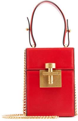 Oscar de la Renta Alibi Box Leather/Suede Top-Handle Bag